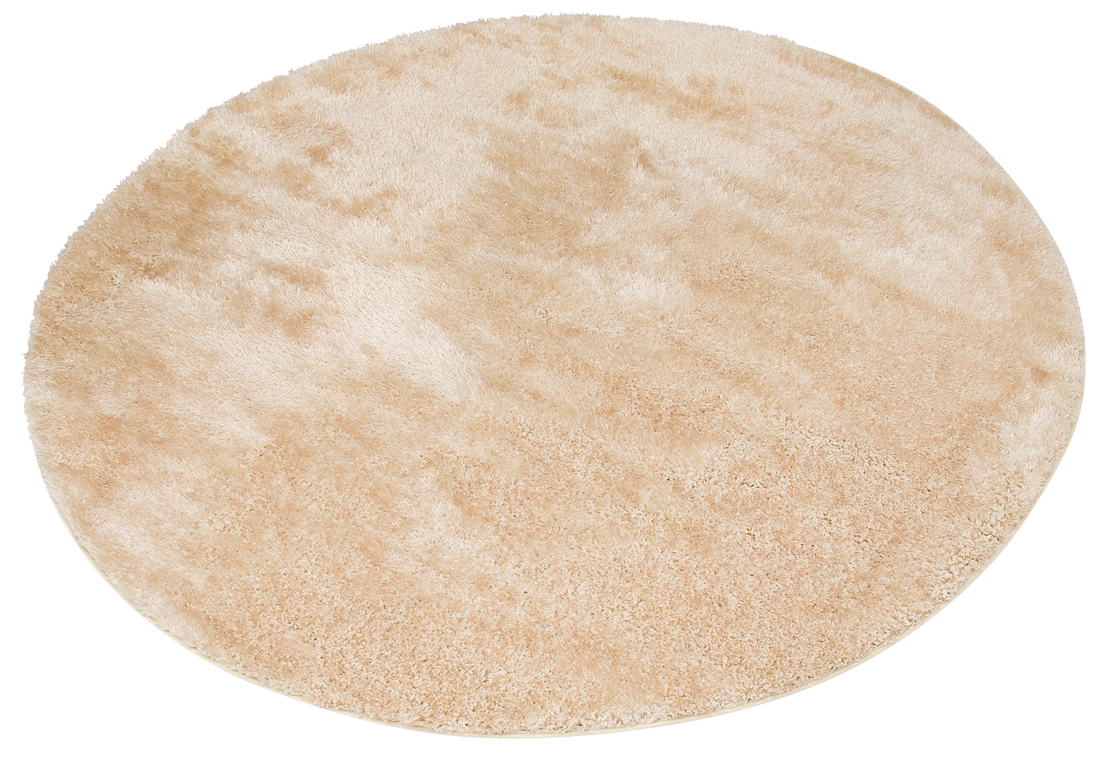 My Home Hoogpolig vloerkleed, »Mikro Soft Ideal«, rond, hoogte 30 mm, machinaal geweven - verschillende betaalmethodes