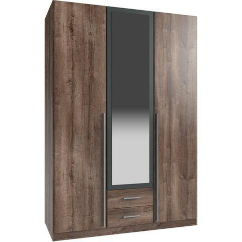 Garderobekast met laden en spiegelelementen