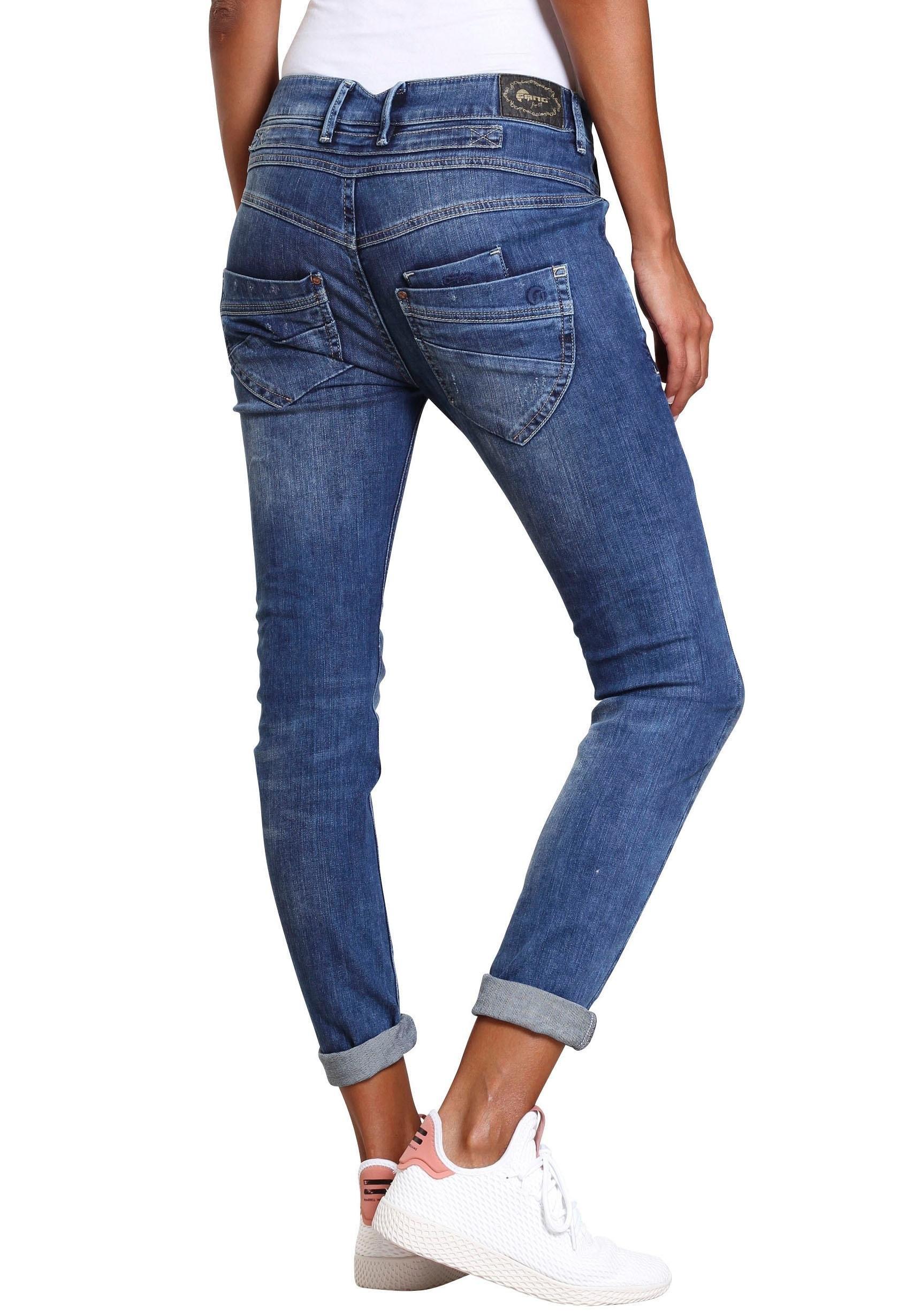 GANG Slim fit jeans Marge met bijzondere 4-knoopssluiting - gratis ruilen op otto.nl
