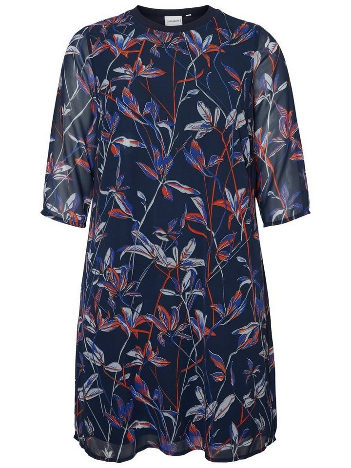 Junarose Bloemen jurk blauw
