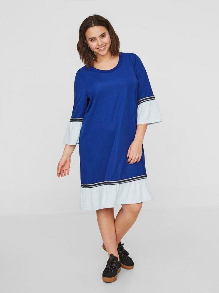 Junarose Peplum jurk blauw