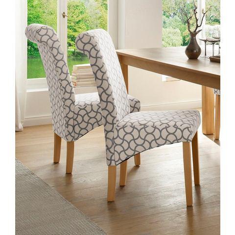 Home affaire set stoelen Rito bekleed met zacht microfiber met grafisch dessin