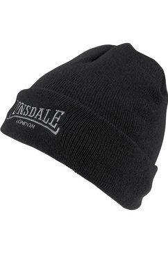 lonsdale beanie hat dundee gevoerd met warme fleece zwart