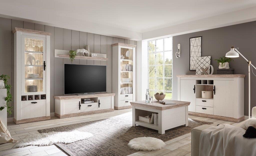 Home Affaire wandmeubel »Florenz 8 « (4-delig) in romantische landhuis-look nu online kopen bij OTTO