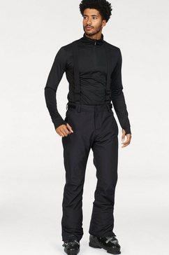 brunotti skibroek footstrap verstelbare, afneembare bretels; 10.000 mm waterkolom zwart