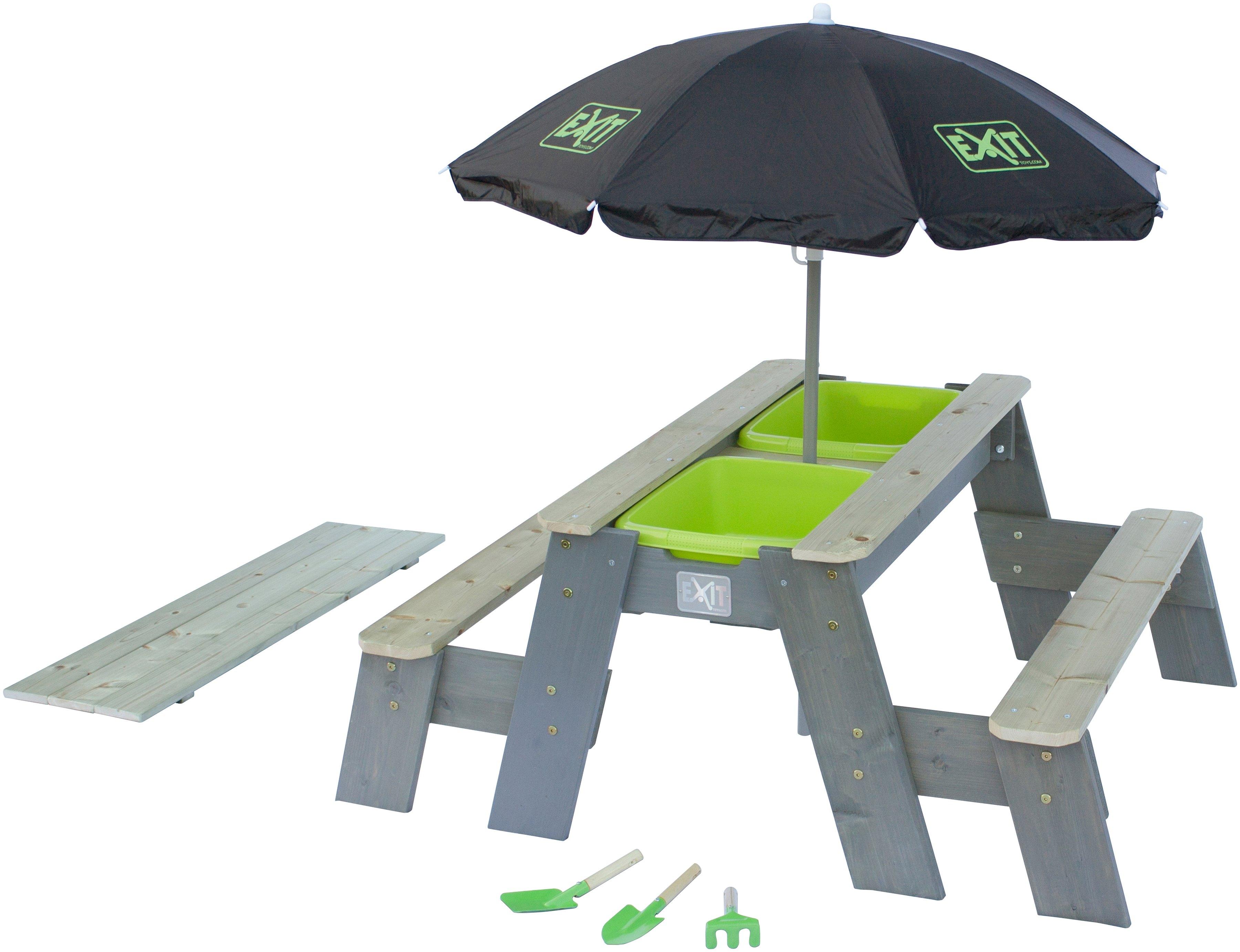 Exit Kinderpicknicktafel »Aksent Deluxe«, Bxd: 94x120 cm, met 2 zitoppervlakken goedkoop op otto.nl kopen