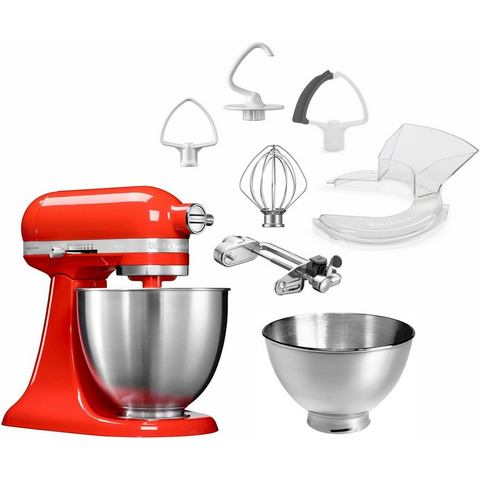 KitchenAid KitchenAid Keukenmachine Mini 5KSM3311XEHT, rood, met extra accessoire t.w.v. €139