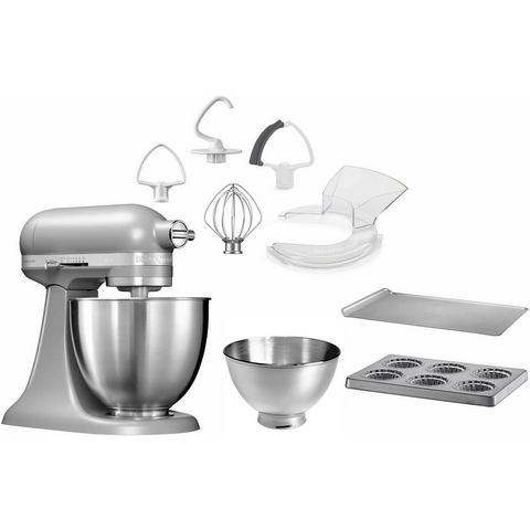 KitchenAid KitchenAid Keukenmachine Mini 5KSM3311XEFG, mat grijs, met extra accessoire t.w.v. €106