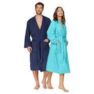 my home uniseks badjas travel ideaal voor elke reis (1 stuk) blauw