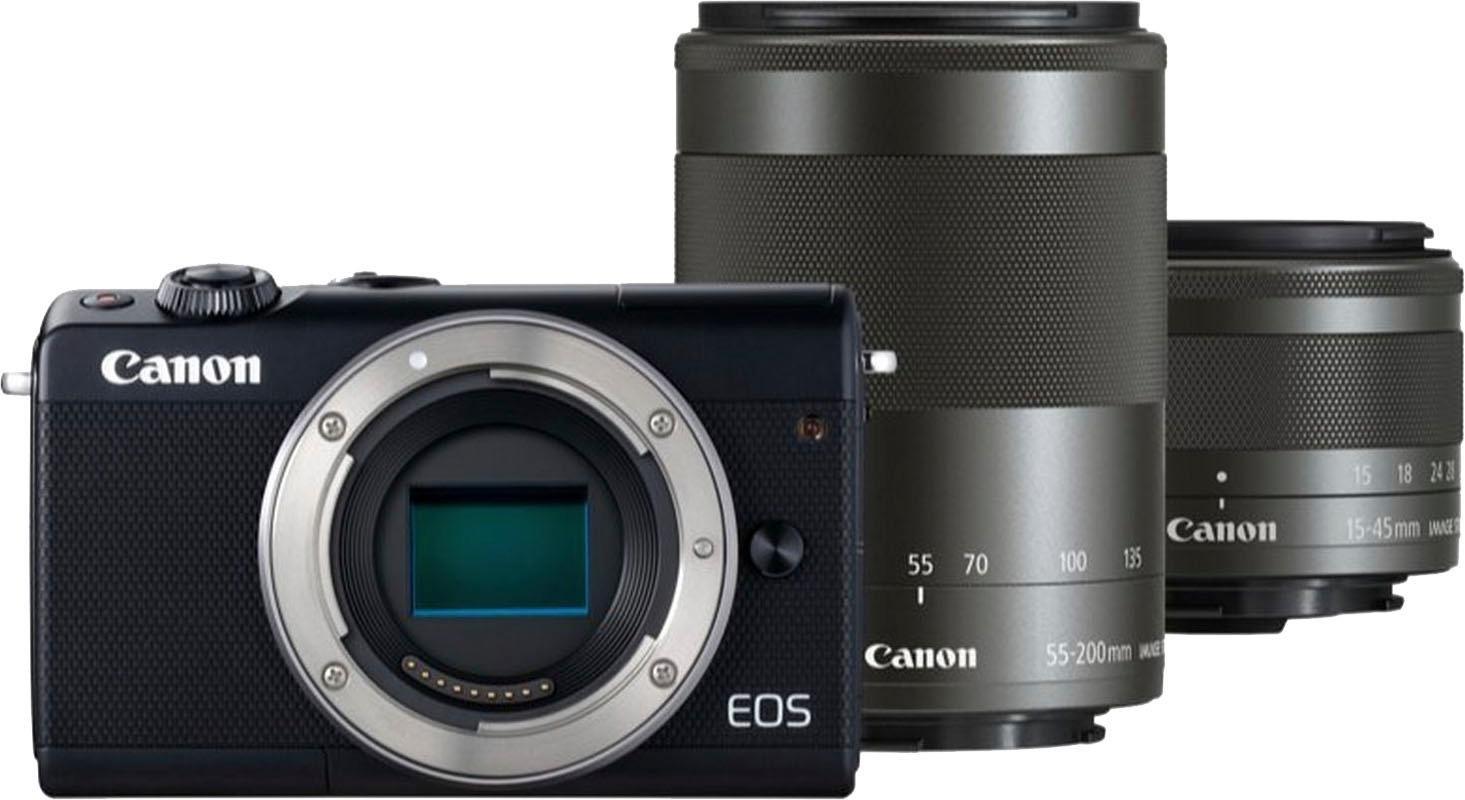 Canon »EOS-M100 M15-45 S+M55-200 S EU26«-systeemcamera (EF-M 15-45 mm IS STM, EF-M 55-200 mm IS STM) goedkoop op otto.nl kopen