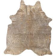 vachtvloerkleed, »rinderfell deluxe«, luxor living, vachtvormig, hoogte 4 mm goud