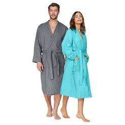 my home uniseks badjas travel ideaal voor elke reis (1 stuk) grijs