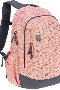 laessig kinderrugzak, »4kids big backpack, spooky peach« roze