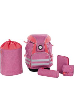 laessig schoolset, 5-delig, »4kids school set, about friends mélange pink« roze
