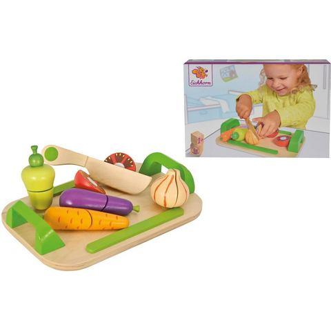 EICHHORN Houten snijplank met groente 12-delig