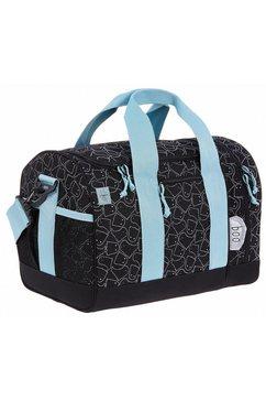laessig sporttas 4kids mini sportsbag, spooky black door peta goedgekeurd veganistisch zwart