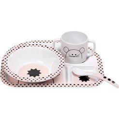 laessig kinderservies, 4-delig, »dish set, little chums mouse« wit