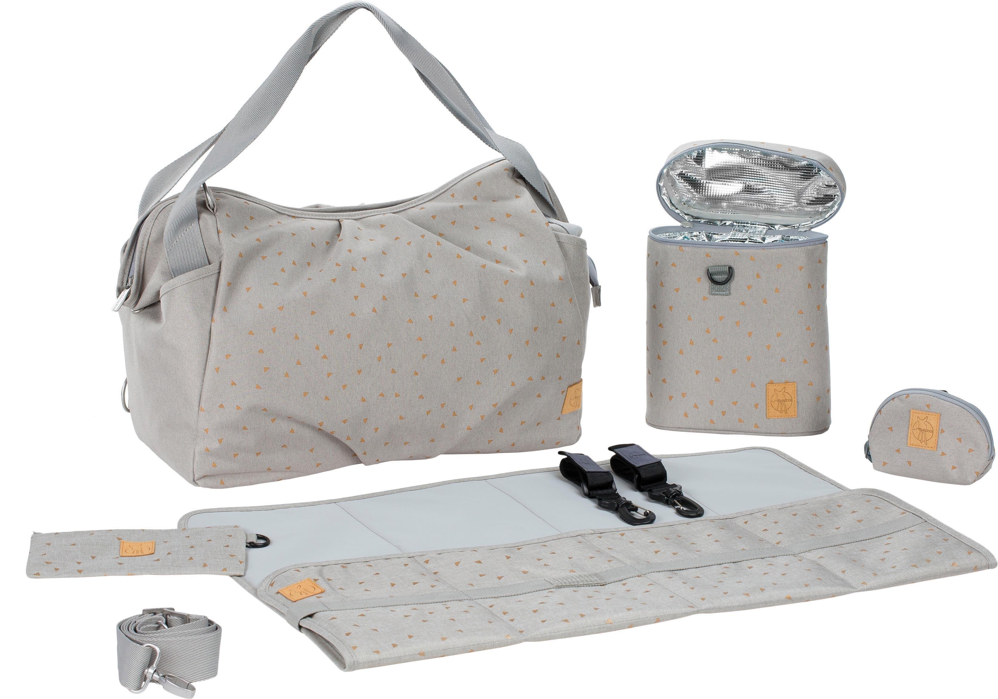 Lässig luiertas met verzorgingsmatje, »Casual Twin Bag Triangle, Light Grey« nu online bestellen