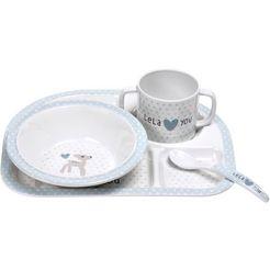 laessig kinderservies set, 4-delig, »dish set, lela light blue« wit