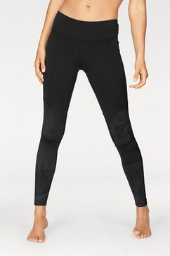 reebok functionele tights »wor colorblocked tight« zwart