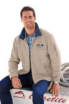 marco donati fleece-jack van polyester beige