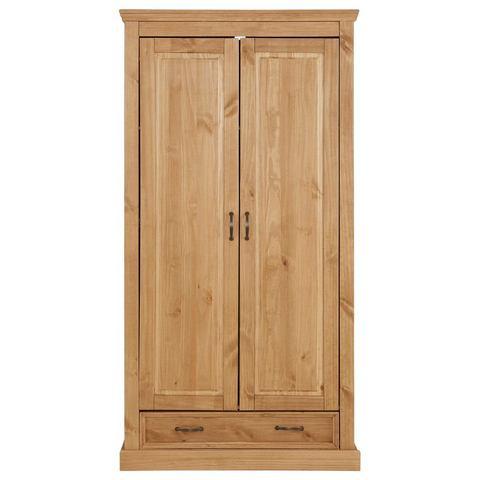 Home Affaire tweedeurs garderobekast Selma voor de slaapkamer, van massief hout, hoogte 190 cm