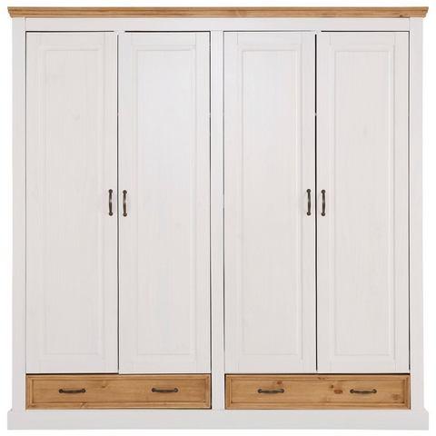 Home Affaire 4-deurs garderobekast Selma voor de slaapkamer, van massief hout, hoogte 190 cm