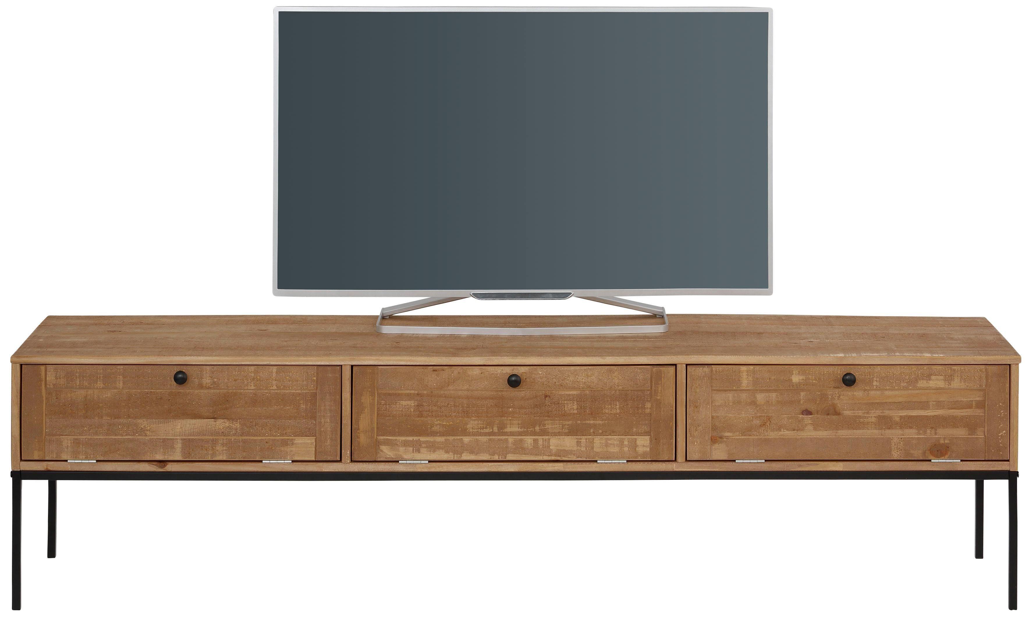Tv meubel hout en staal boomstam eiken firma hout staal