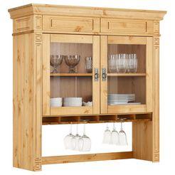 home affaire vitrineopzet »vinales« in klassieke landhuisstijl, breedte 113 cm beige
