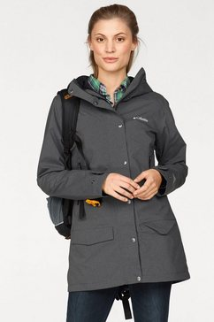 columbia functionele parka »rainy creek« grijs
