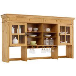 home affaire vitrineopzet »vinales« in klassieke landhuisstijl, breedte 204 cm beige