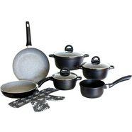 mk pannenset - gietaluminium-aluminium - 10-delig »black« zwart