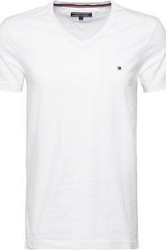 tommy hilfiger t-shirt »core stretch slim vneck tee« wit