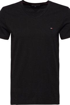 tommy hilfiger t-shirt core stretch slim v-nk tee zwart