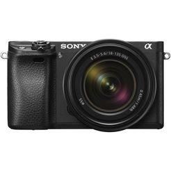 sony systeemcamera ilce-6300mb 7,5 cm (3 inch) display, xga oled-zoeker, 4k zwart