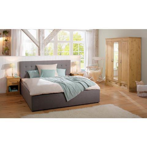 Home Affaire 3-deurs garderobekast Selma voor de slaapkamer, van massief hout, hoogte 190 cm