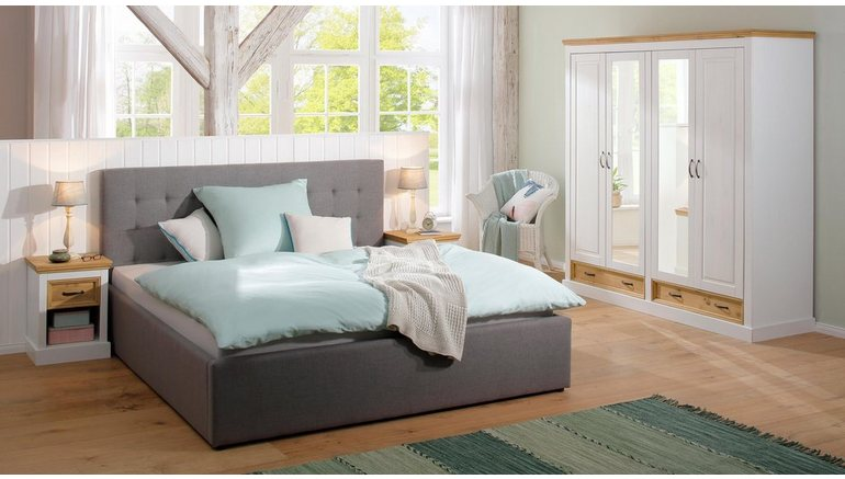 Slaapkamer Massief Hout : Home affaire 4 deurs garderobekast »selma« voor de slaapkamer van