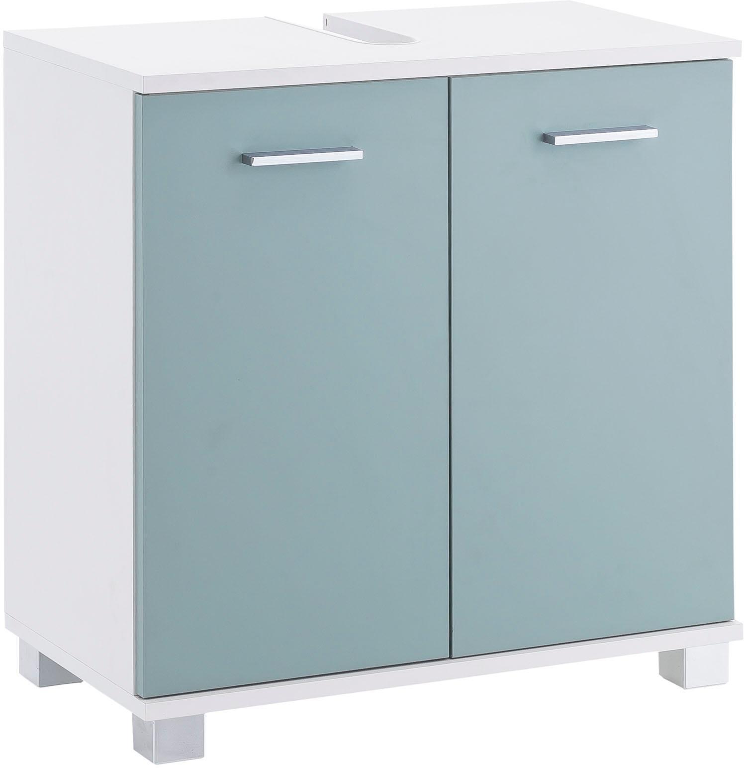 Schildmeyer wastafelonderkast LUMO Breedte 60 cm, met 2 deuren & metalen handgrepen nu online kopen bij OTTO