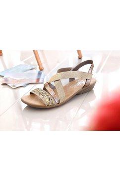 rieker sandalen beige