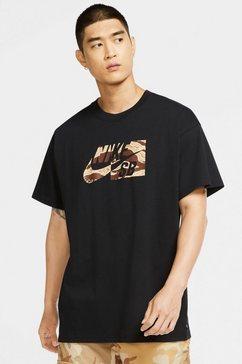 nike sb t-shirt »men's camo skate t-shirt« zwart