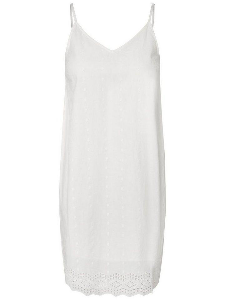 Pieces Mouwloze jurk wit
