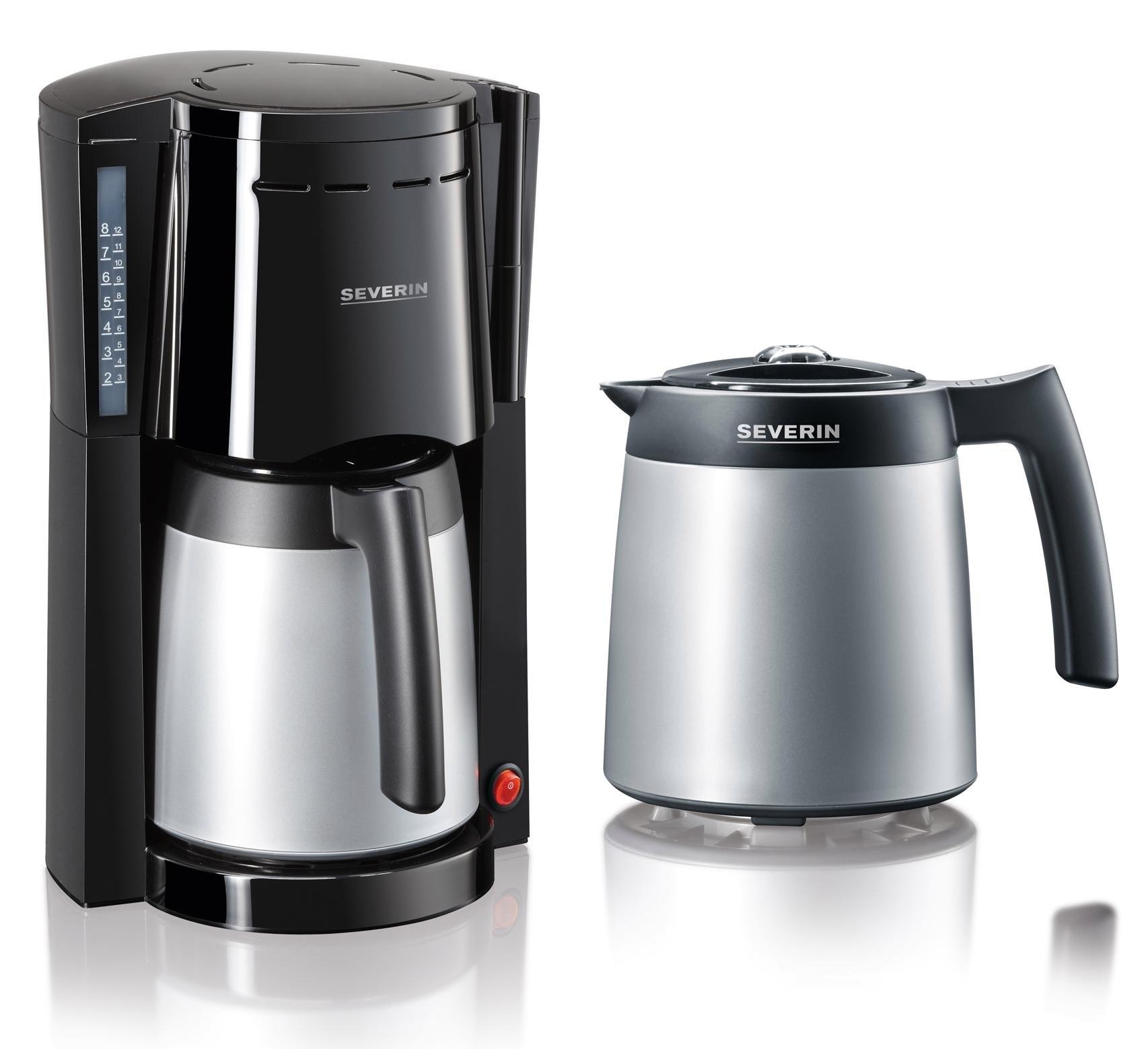 Severin filterkoffiezetapparaat koffiezetapparaat met 2 thermoskannen - KA 9482, papieren filter 1x4 - verschillende betaalmethodes