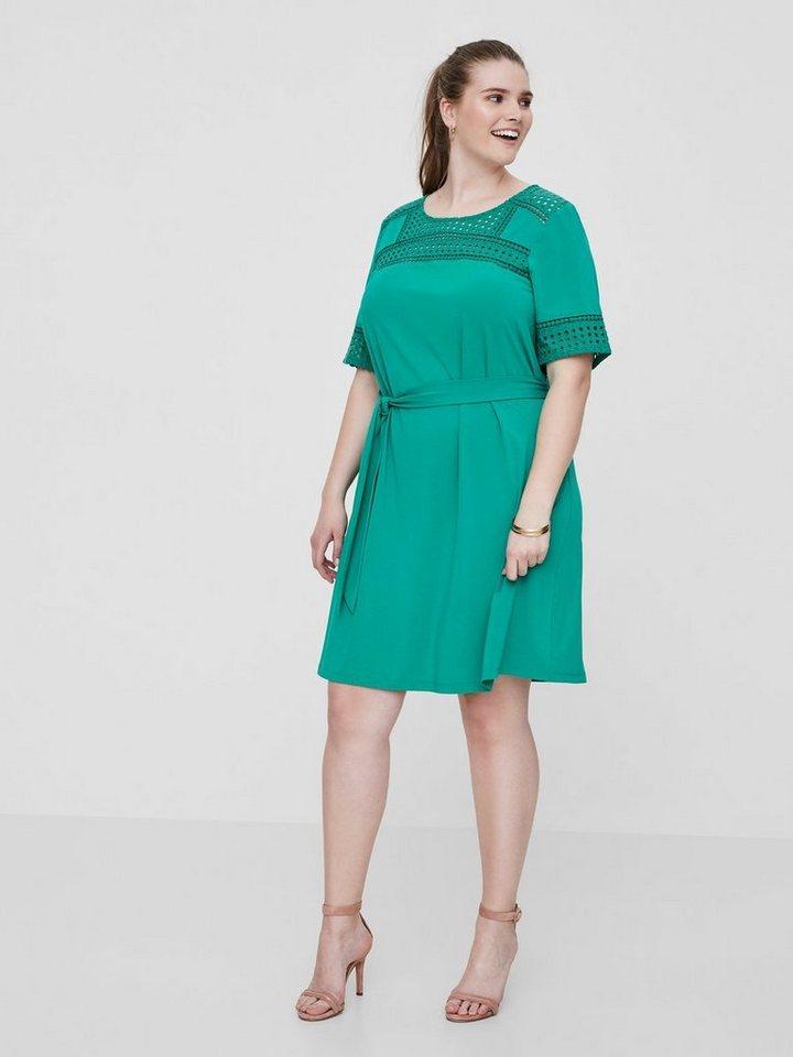 Junarose Strikband jurk groen