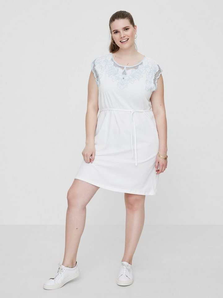 Junarose jersey jurk wit