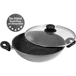 stoneline wok ø 32 cm, inductie grijs