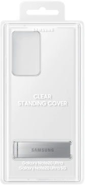 samsung back cover clear standing cover ef-jn985 voor galaxy note20 ultra 5g wit
