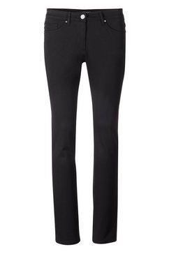 gerke my pants five-pocketsbroek lora 51 straight sportieve 5-pocket met strasapplicaties zwart