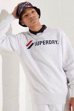 superdry sweatshirt sportstyle applique crew wit