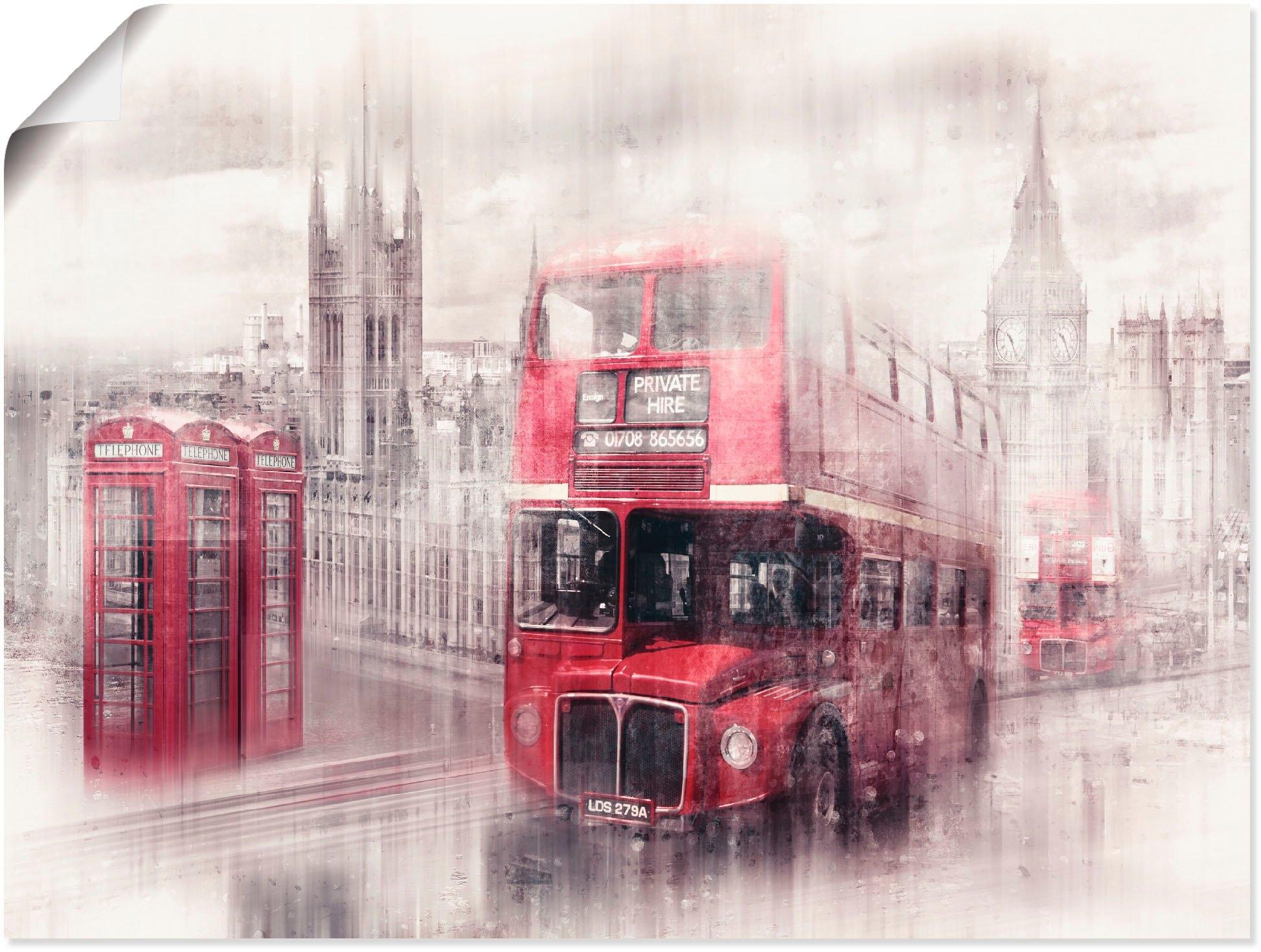 Artland Artprint Londen Westminster collage in vele afmetingen & productsoorten - artprint van aluminium / artprint voor buiten, artprint op linnen, poster, muursticker / wandfolie ook geschikt voor de badkamer (1 stuk) in de webshop van OTTO kopen