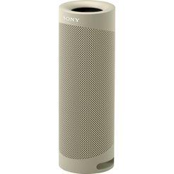 sony bluetoothluidspreker srs-xb23 draagbare, draadloze 12h accucapaciteit, waterafstotend, extra bas beige